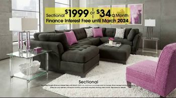 Rooms to Go Anniversary Sale TV Spot, 'Sectional and Matching Ottoman' - Thumbnail 4