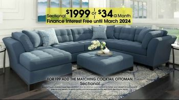 Rooms to Go Anniversary Sale TV Spot, 'Sectional and Matching Ottoman' - Thumbnail 7
