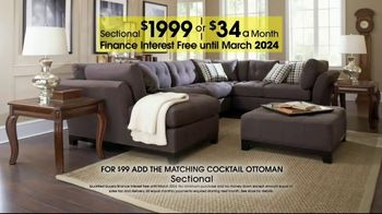 Rooms to Go Anniversary Sale TV Spot, 'Sectional and Matching Ottoman' - Thumbnail 8