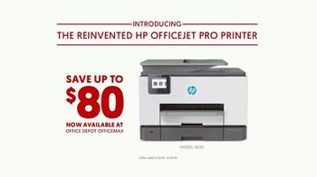 Office Depot OfficeMax TV Spot, 'The Reinvented HP Officejet Pro Printer' - Thumbnail 9