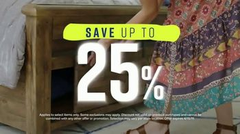Ashley HomeStore Spring Home Event TV Spot, '25 Percent Off' Song by Midnight Riot - Thumbnail 3