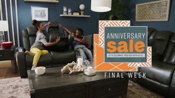 Ashley HomeStore Anniversary Sale TV Spot, 'Final Week: Grand Opening' Song by Midnight Riot - Thumbnail 3