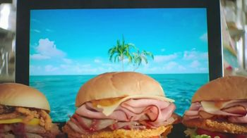 Arby's King's Hawaiian Sandwiches TV Spot, 'Isle of Buns' Featuring H. Jon Benjamin, Song by YOGI - 2417 commercial airings