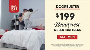 Mattress Firm Presidents Day Sale TV Spot, 'All Day Doorbuster'