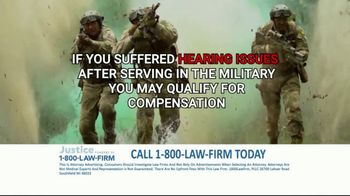 1-800-LAW-FIRM TV Spot, 'Served in Military: Hearing Issues' - Thumbnail 9