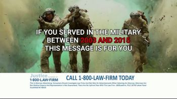 1-800-LAW-FIRM TV Spot, 'Served in Military: Hearing Issues' - Thumbnail 4