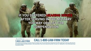 1-800-LAW-FIRM TV Spot, 'Served in Military: Hearing Issues' - Thumbnail 7