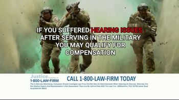 1-800-LAW-FIRM TV Spot, 'Served in Military: Hearing Issues' - Thumbnail 8
