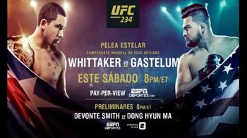 UFC 234 TV Spot, 'Whittaker vs. Gastelum' canción de Charlie Tenku [Spanish] - 32 commercial airings