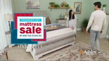 Ashley HomeStore Presidents Day Mattress Sale TV Spot, 'Final Week: Queen Mattress & Power Base' Song by Midnight Riot - Thumbnail 2