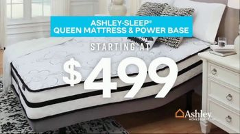 Ashley HomeStore Presidents Day Mattress Sale TV Spot, 'Final Week: Queen Mattress & Power Base' Song by Midnight Riot - Thumbnail 3