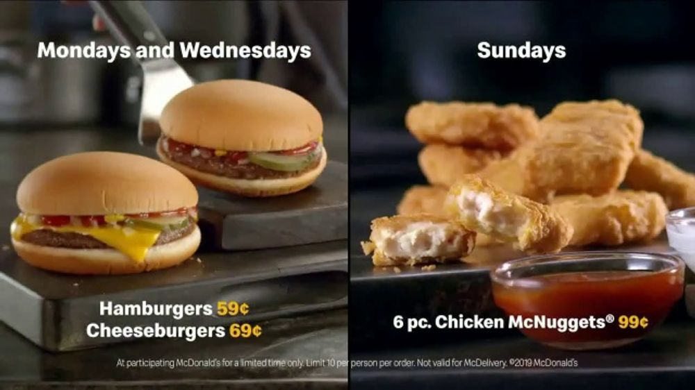 MCDONALDS CHEAP BURGER DAY