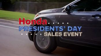 Honda Presidents Day Sales Event TV Spot, 'Save Your Presidents' [T2] - Thumbnail 2