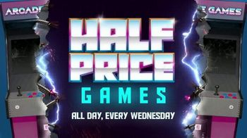 Main Event Entertainment Half Price Games TV Spot, 'Every Wednesday'