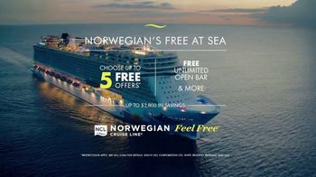 Norwegian Cruise Line Free at Sea TV Spot, 'Good to Be Free: Five Free' Song by Andy Grammer - Thumbnail 9