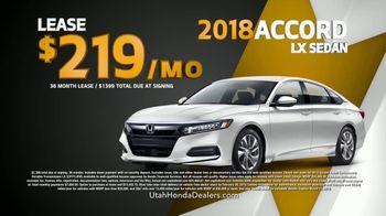 Honda Get More Save More Sales Event TV Spot, '2018 Accord' [T2] - Thumbnail 7