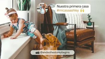 Ashley HomeStore TV Spot, 'Hay mucho que amar' canción de Midnight Riot [Spanish]