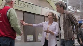 Lowe's TV Spot, 'Do It Right: Pergo Timbercraft Waterproof Laminate'