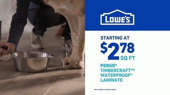 Lowe's TV Spot, 'Do It Right: Pergo Timbercraft Waterproof Laminate' - Thumbnail 9