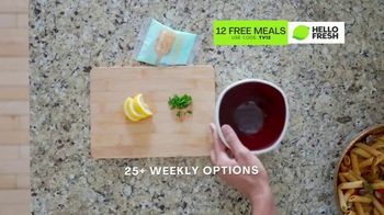 HelloFresh TV Spot, 'Game-Changer: 12 Free Meals' Featuring Cedric Thompson - Thumbnail 8