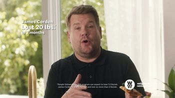 WW TV Spot, 'Pizza:  50% Off, $0 Down' Featuring James Corden - Thumbnail 6