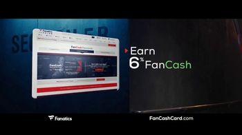Fanatics.com Fan Cash Card TV Spot, 'Ear 6% Fan Cash'