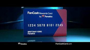 Fanatics.com Fan Cash Card TV Spot, 'Ear 6% Fan Cash' - Thumbnail 1