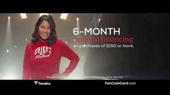 Fanatics.com Fan Cash Card TV Spot, 'Ear 6% Fan Cash' - Thumbnail 5