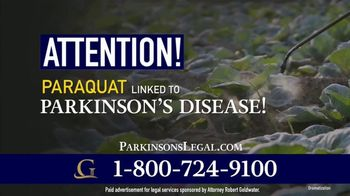 Goldwater Law Firm TV Spot, 'Herbicide Called Paraquat Linked to Parkinson's'