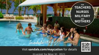 Sandals Resorts TV Spot, 'Maycation Giveaway: Unsung Heroes' - Thumbnail 1