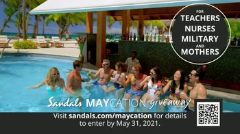 Sandals Resorts TV Spot, 'Maycation Giveaway: Unsung Heroes' - Thumbnail 2