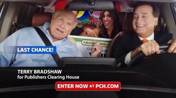 Publishers Clearing House TV Spot, 'Last Chance: 1 Day Left' Featuring Terry Bradshaw - 360 commercial airings