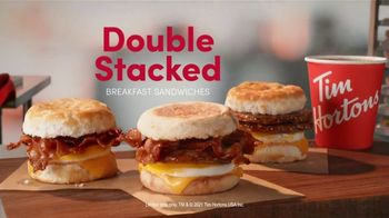Tim Hortons Double Stacked Breakfast Sandwiches TV Spot, 'Fully Packed' - Thumbnail 9