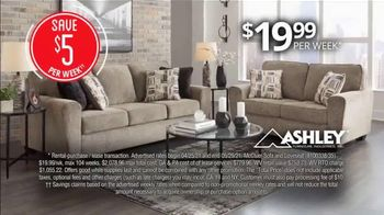 Rent-A-Center Deals for Days TV Spot, 'Ashley Sofa, Bedroom and Smart TV' - Thumbnail 2