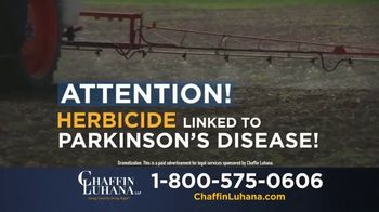 Chaffin Luhana TV Spot, 'Herbicide Linked to Parkinson's' - Thumbnail 2