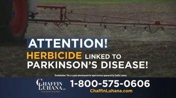 Chaffin Luhana TV Spot, 'Herbicide Linked to Parkinson's'