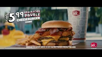 Jack in the Box BBQ Bacon Double Cheeseburger Combo TV Spot, 'Cannonball: $5.99' Feat. King Bach - Thumbnail 9