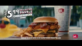 Jack in the Box BBQ Bacon Double Cheeseburger Combo TV Spot, 'Cannonball: $5.99' Feat. King Bach - Thumbnail 8