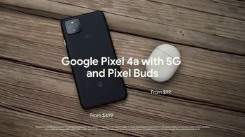 Google Pixel 4a and Pixel Buds TV Spot, 'Pixel 4a With 5G from $499 and Pixel Buds from $99' - Thumbnail 9