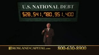 Rosland Capital TV Spot, 'Rising National Debt: Gold and Silver Investments' Ft. William Devane - Thumbnail 7