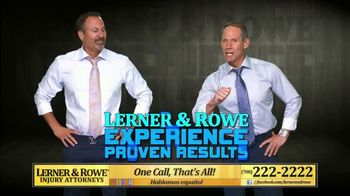 Lerner and Rowe Injury Attorneys TV Spot, 'Experience Proven Results' - Thumbnail 4