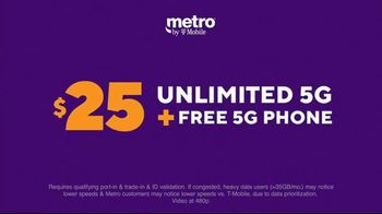 Metro by T-Mobile TV Spot, 'Big 5G Upgrade: Unlimited for $25 Per Month, Free Galaxy 5G' - Thumbnail 3