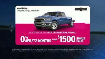 AutoNation Ram Truck Month TV Spot, 'Go Time: 2021 Ram 1500 Crew Cab' - Thumbnail 4