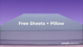 Purple Mattress Spring Sale TV Spot, 'Floating: Free Sheets and Pillow' - Thumbnail 2