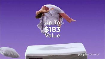 Purple Mattress Spring Sale TV Spot, 'Floating: Free Sheets and Pillow' - Thumbnail 5