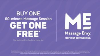 Massage Envy TV Spot, 'Working Hard: Buy One, Get One' - Thumbnail 9