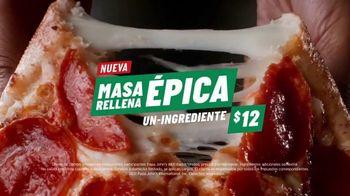 Papa John's Epic Stuffed Crust Pizza TV Spot, 'Te amo, queso' [Spanish] - Thumbnail 7