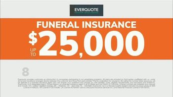 EverQuote Advisor Intelligence Funeral Insurance Plan TV Spot, 'Funeral Costs' - Thumbnail 7