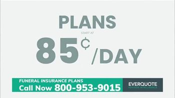 EverQuote Advisor Intelligence Funeral Insurance Plan TV Spot, 'Funeral Costs' - Thumbnail 5