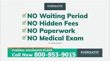 EverQuote Advisor Intelligence Funeral Insurance Plan TV Spot, 'Funeral Costs' - Thumbnail 6